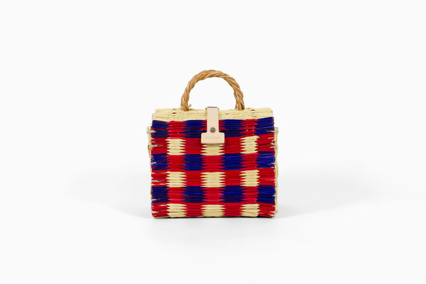 TOINO ABEL BAG - MARIANA (RED & PURPLE CHECK)