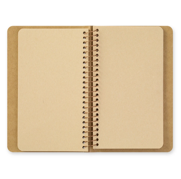 TRAVELER'S COMPANY SPIRAL RING NOTEBOOK (A6 SLIM) BLANK DW KRAFT PAPER
