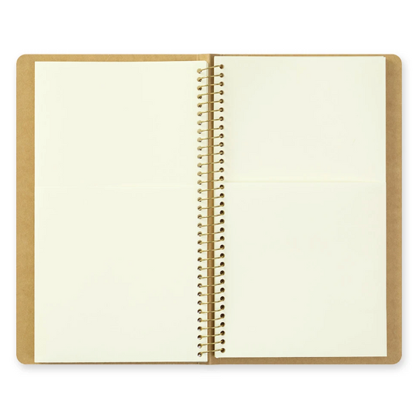 TRAVELER'S COMPANY - SPIRAL RING NOTEBOOK (A5 SLIM) PAPER POCKET