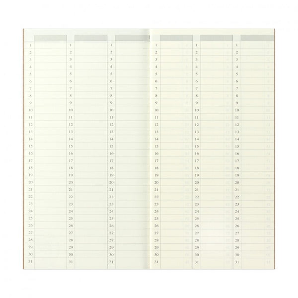 TRAVELER'S NOTEBOOK - REGULAR SIZE (REFILL - FREE DIARY WEEKLY VERTICAL 018)