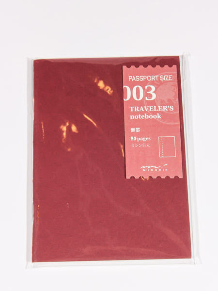 TRAVELER'S NOTEBOOK - PASSPORT SIZE REFILL (BLANK)