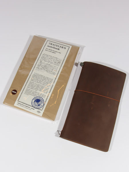 TRAVELER'S NOTEBOOK - REGULAR SIZE (BROWN)
