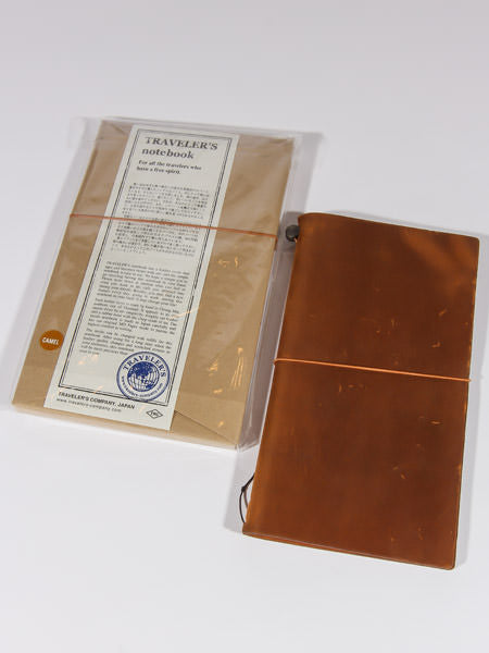 TRAVELER'S NOTEBOOK - REGULAR SIZE (CAMEL)