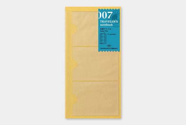 TRAVELER'S NOTEBOOK - REGULAR SIZE (REFILL - CARD FILE)