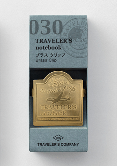 TRAVELER'S NOTEBOOK - BRASS CLIP 030 AIRPLANE