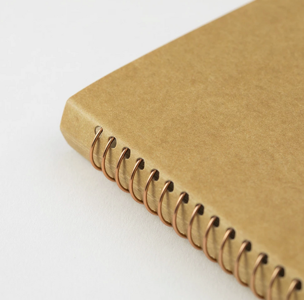 TRAVELER'S COMPANY - SPIRAL RING NOTEBOOK (A5 SLIM) BLANK DW KRAFT PAPER