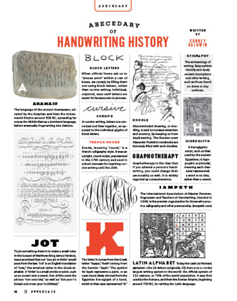 UPPERCASE - HAND LETTERING - ISSUE #43