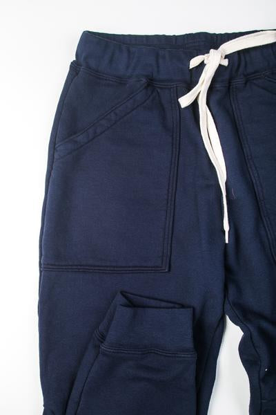 VELVA SHEEN - 8 OZ ARMY GYM SWEAT PANTS (NAVY)