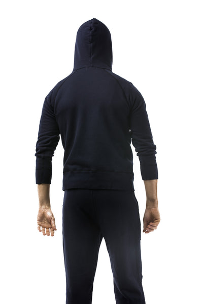 VELVA SHEEN - 8 OZ ARMY GYM SWEAT PULLOVER HOODIE (NAVY)