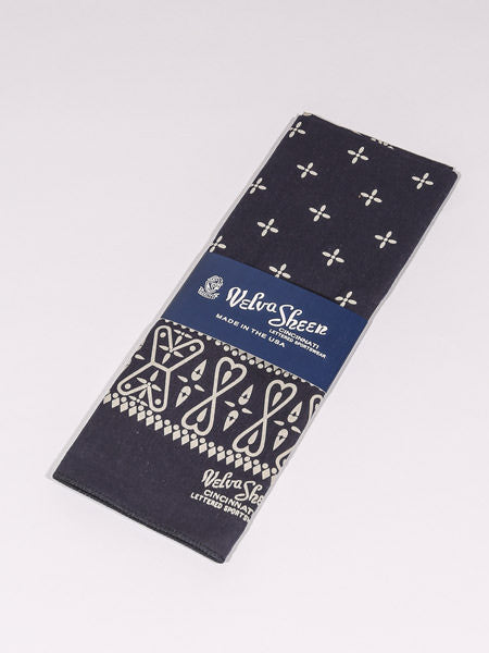 VELVA SHEEN - BANDANA CROSS (NAVY)