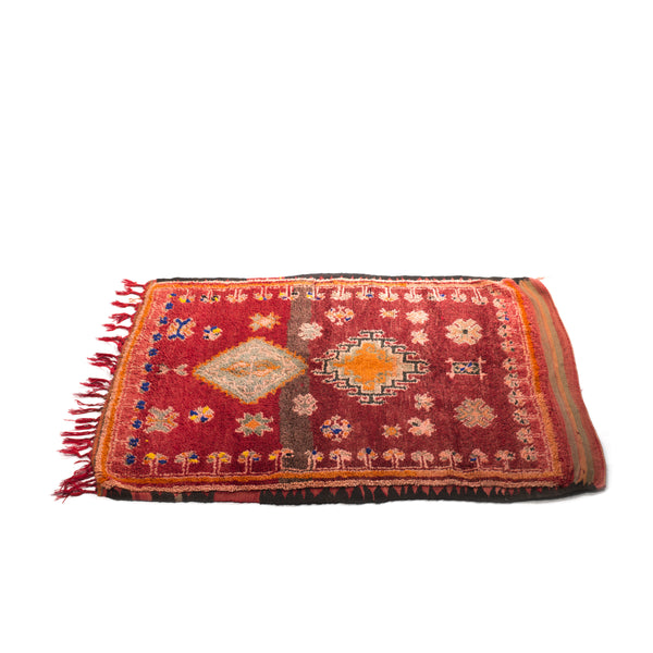 VINTAGE MOROCCAN RUG (RHAMNA TRIBE) - 4 X 5FT