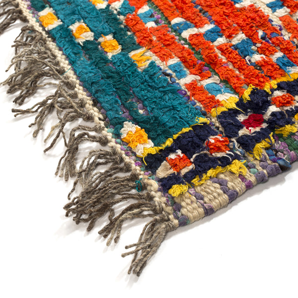 VINTAGE MOROCCAN RUG (AZILAL TRIBE) - MULTICOLOR - 3 X 4.25FT