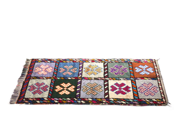 VINTAGE MOROCCAN RUG (AZILAL TRIBE) - MULTICOLOR - 4 X 6FT