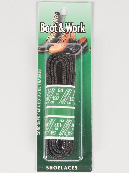 SOLE CHOICE - WAXED BOOT & WORK LACES (BLACK)