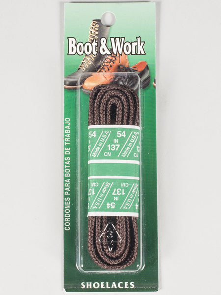 SOLE CHOICE - WAXED BOOT & WORK LACES (BROWN)