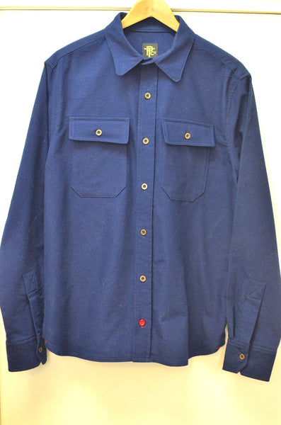 OFFICER'S LOUNGE  WORK SHIRT - NAVY