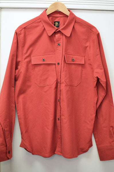 OFFICER'S LOUNGE  WORK SHIRT - HUNTER ORANGE