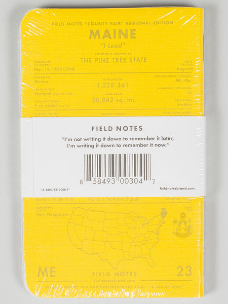FIELD NOTES - COUNTY FAIR - MAINE