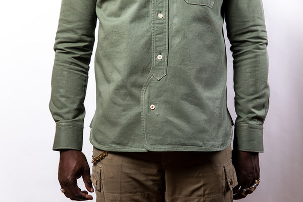 PTC OFFICER'S LOUNGE SHIRT - ARMY GREEN