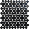 "Daltile Mosaic Tile UP19 EBONY Uptown Glass Mosaics 1"" Hexagon 1HEXMS1P-UP19 bold floors canada flooring shop sale"