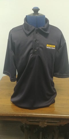 Beacon Adult Short Sleeve Navy Polo