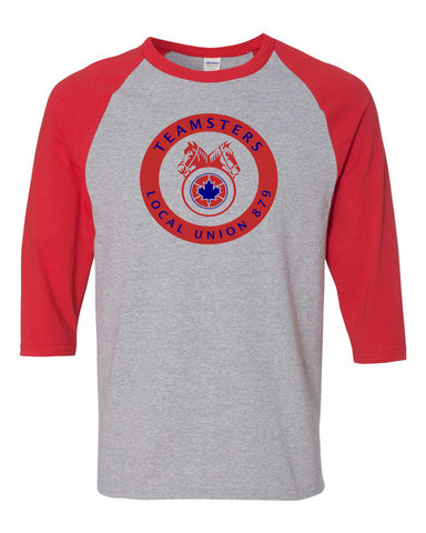 Teamsters Red/Grey Baseball Shirt