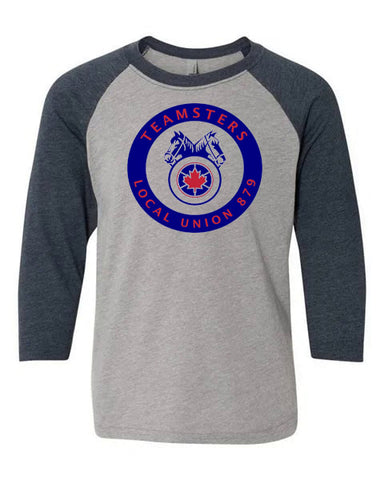 Teamsters Heather/Navy Baseball Shirt