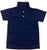 Navy & White Adult Short Sleeve Dry Fit Polo