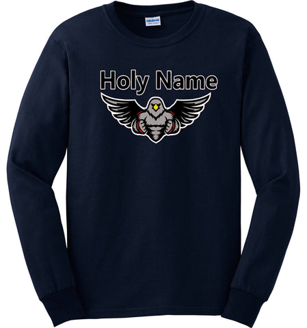 Holy Name Spirit Wear Youth Navy Long Sleeve Shirt