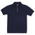 Navy & White Youth Short Sleeve Polo