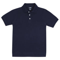 Navy & White Adult Short Sleeve Polo