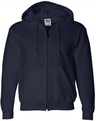 Navy & White Youth Zipper Hoodie
