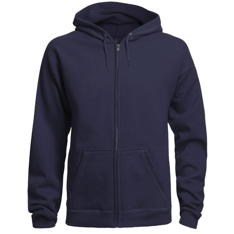 Navy & White Adult Zipper Hoodie