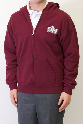 Saint Michael Full Zip School Hoodie (Discontinued)