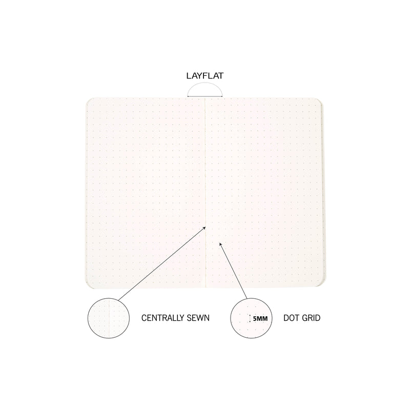 A6- Dot Grid- Kraft Notebook- Size (145 mm x 90 mm) | Pack of 6