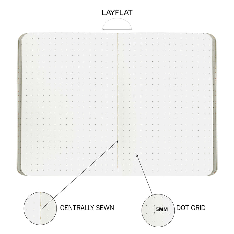 Pocket Diary, B7 size, 6 Attractive Pastel color notebook, 90 GSM, Centrally Thread Sewn binding, Pack of 6 Notebooks with 64 pages each, Dotted notebook, Dotgrid, Journal, Pocket size notebook