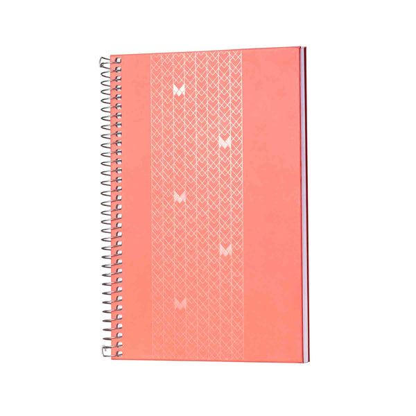 B5 - UNICORN NOTEBOOK / JOURNAL - 100 GSM - RULED - METAL SPIRAL - (PEACH)