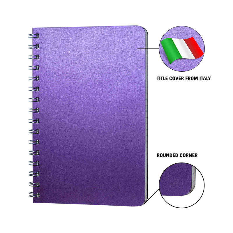 A5- Dot Grid- Notebook- Size (210 mm x 135 mm) | Amethyst Purple