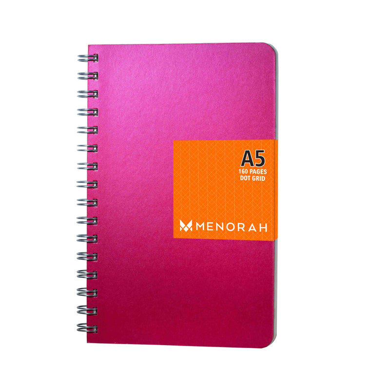A5- Dot Grid- Notebook- Size (210 mm x 135 mm) | Rubellite Pink