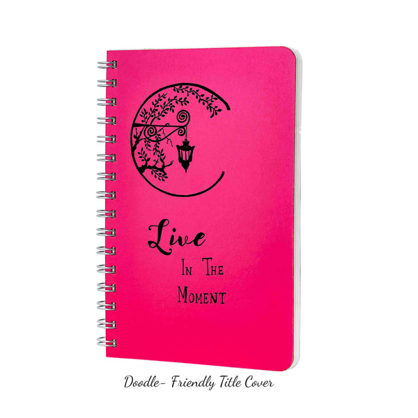 Dot Grid Notebook, 160 pages, Shimmery Pink Notebook, 90gsm, Snag free Metal Wire-O bound, Provides plenty of space for notes, calculations, lists, doodling and perfect for calligraphy