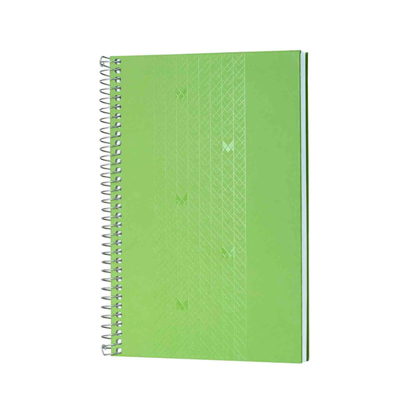 B5 - UNICORN NOTEBOOK / JOURNAL - 100 GSM - RULED - METAL SPIRAL - (GREEN)