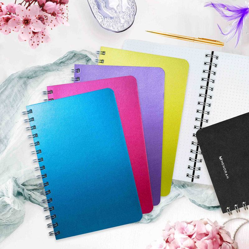 Shimmer and Shine notebook,Shimmer and Shine diary,A5 dot grid notebook,A5 dot grid,diaries and notebooks online,A5 Green color dot grid notebook,A5 blue color dot grid notebook
