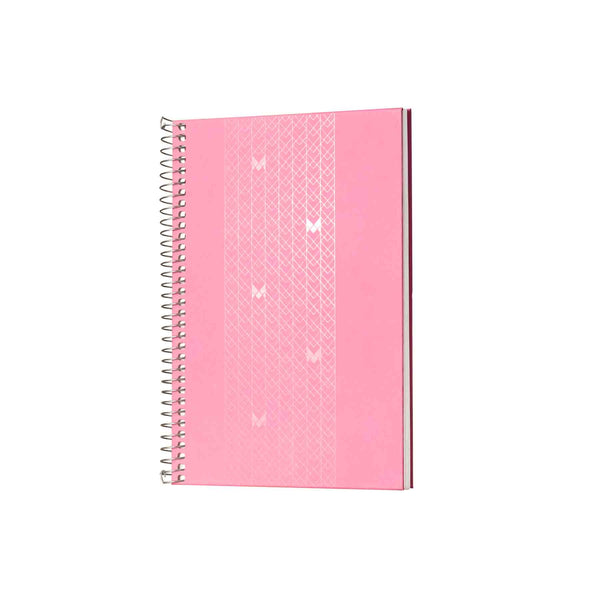 A5 - UNICORN NOTEBOOK / JOURNAL - 100 GSM - RULED - METAL SPIRAL - (PINK)