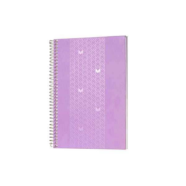 A5 - UNICORN NOTEBOOK / JOURNAL - 100 GSM - RULED - METAL SPIRAL - (PURPLE)
