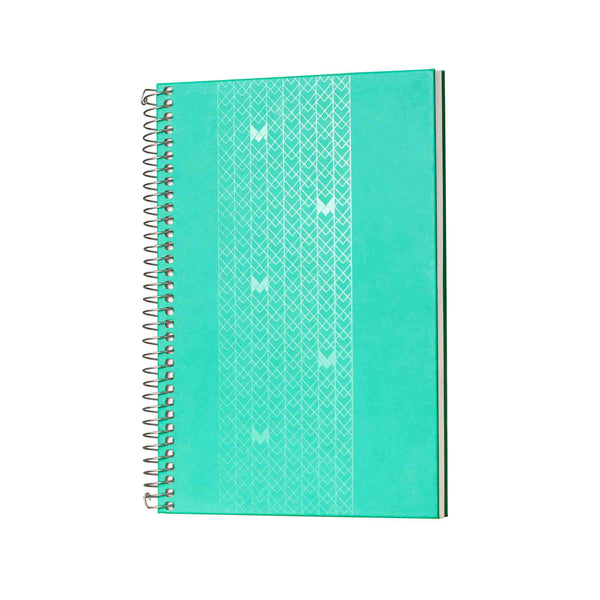 B5 - UNICORN NOTEBOOK / JOURNAL - 100 GSM - RULED - METAL SPIRAL - (TEAL)