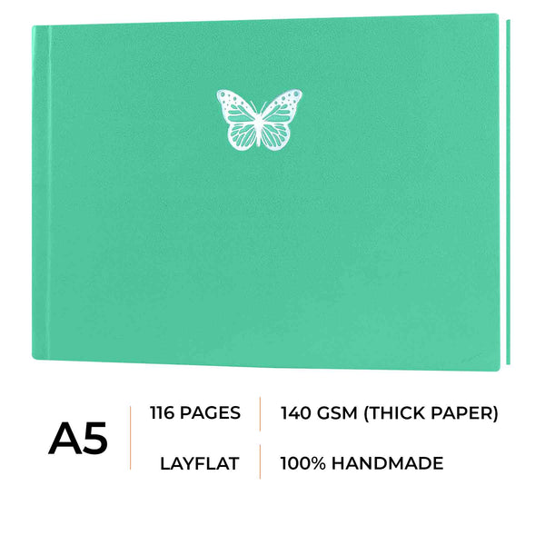 A5 - CASSATA SKETCH BOOK - 140GSM - LANDSCAPE - Sweet Mint