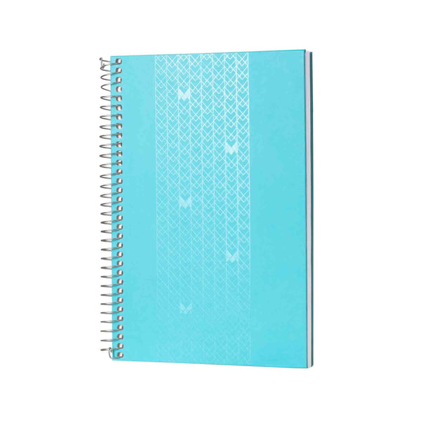 B5 - UNICORN NOTEBOOK / JOURNAL - 100 GSM - RULED - METAL SPIRAL - (BLUE)
