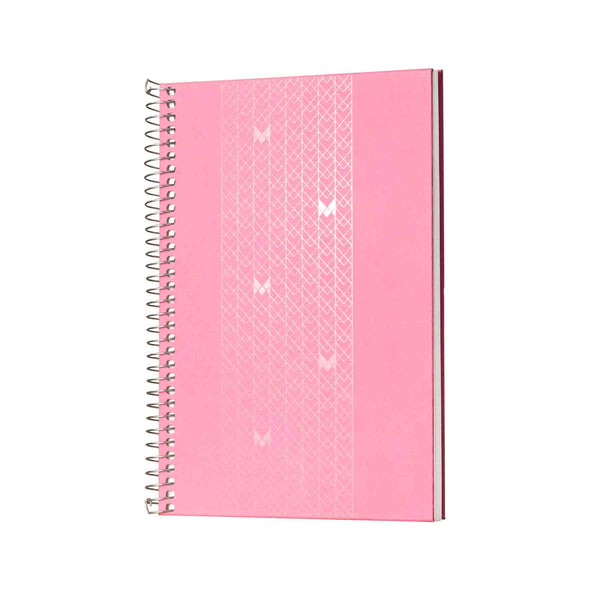 B5 - UNICORN NOTEBOOK / JOURNAL - 100 GSM - RULED - METAL SPIRAL - (PINK)