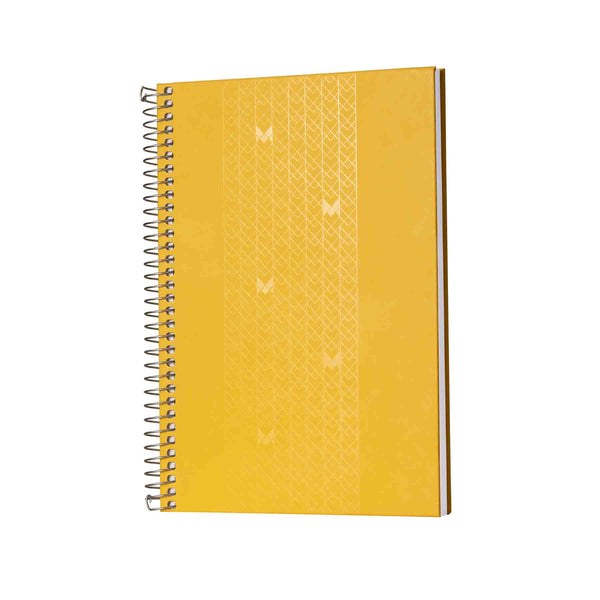 B5 - UNICORN NOTEBOOK / JOURNAL - 100 GSM - DOTGRID - METAL SPIRAL - (YELLOW)