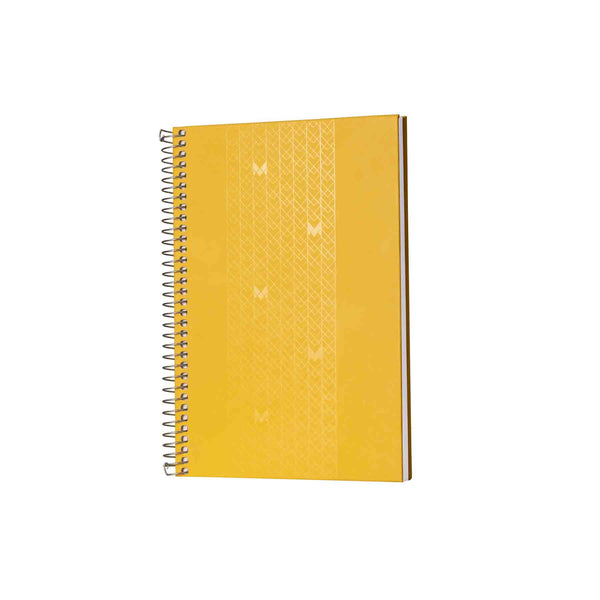 A5 - UNICORN NOTEBOOK / JOURNAL - 100 GSM - RULED - METAL SPIRAL - (YELLOW)